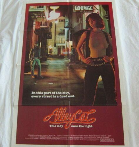 Vintage Alley Cat Movie Poster 1984 Exploitation Sexploitation Martial Arts