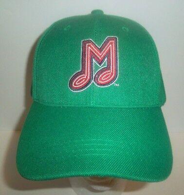 Memphis Redbirds Embroidered Music Note M Logo Hat Cap Silky O'Sullivan's Green