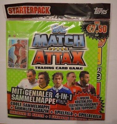 Topps Match Attax 2011/2012 Starterpack Trading Card / Sammelordner + 10 Karten (Fußball-karte Ordner)