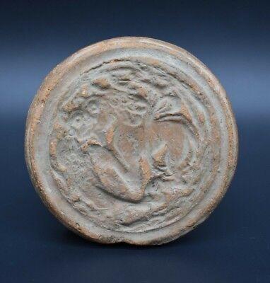 Large ancient Sasanian clay seal C. 3rd - 7th century AD