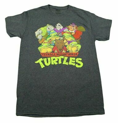 Adult Mutant Ninja Turtles (TEENAGE MUTANT NINJA TURTLES T-SHIRT BLUE RETRO MENS OLD SCHOOL ADULT MOVIE)