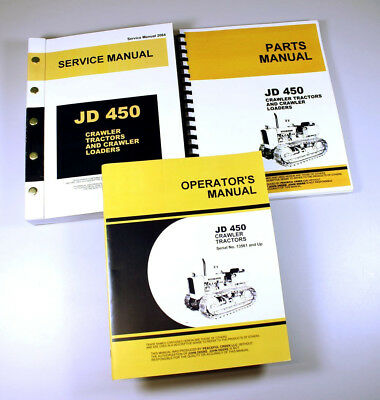 Service Manual Set For John Deere 450 Crawler Tractor Repair Operators Parts