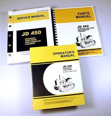 Service Manual Set For John Deere 450 Crawler Tractor Repair Operators Parts