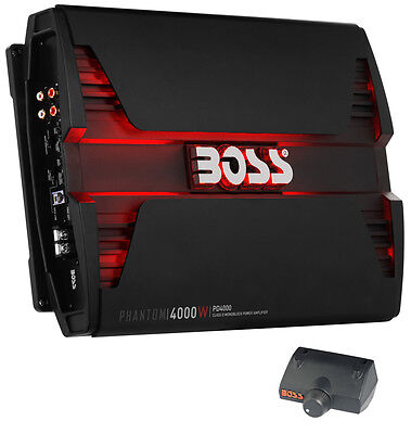 Boss Audio PD4000 4000W Monoblock D Car Audio Amplifier Power LED Amp w/ Remote