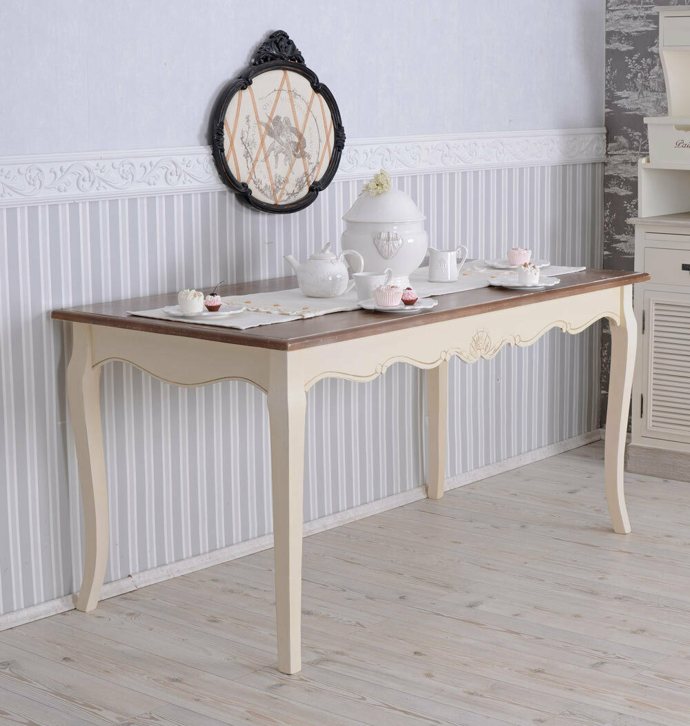 Grosser Esstisch Shabby Chic Tisch Tafeltisch