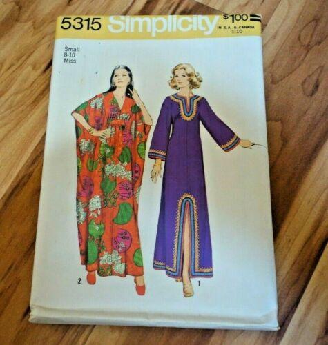 Simplicity 5315 Caftan Dress Miss Size 8-16 Uncut