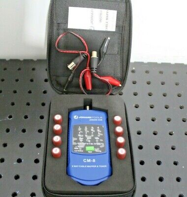 Jonard Tools Cm-8 8-way Cable Mapper And Toner Kit Tested And Working
