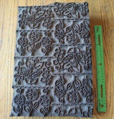 Block Print Block Stamp Wood Stamp Block Industrial Stamping Hand Carved Stamp Vintage Indian Batik Textile and Fabric Printing