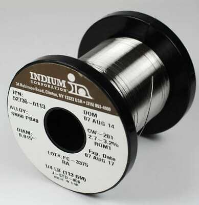 Indium 52736-0454 Wire 6040 Ra .015 In. 14 Lb Spool