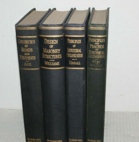 McGraw Hill Vtg Book Electrical Engineering Psychology Masonry Structures 1930s