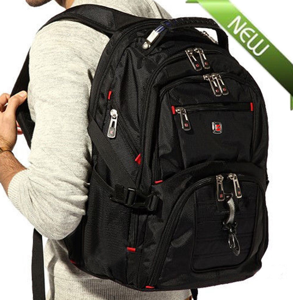 "Men's Rucksack Notebook 15.6"" Laptop Backpack Candidly Hiking Travel School Bag@"