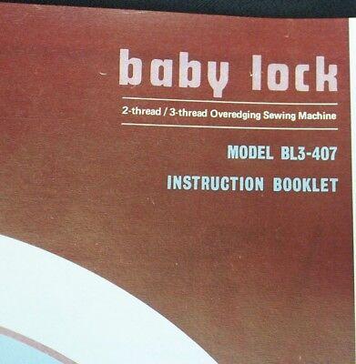 BabyLock Baby Lock Serger Overlock Sewing Machine Owner