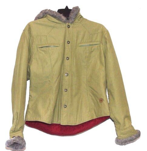 Ariat Girls Green Hooded Cotton Blend Jacket Sz Large