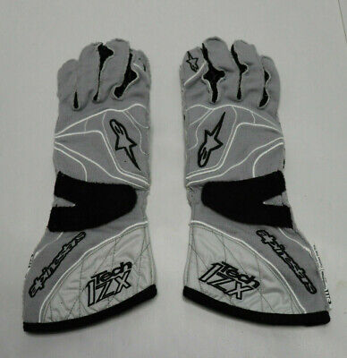ALPINESTARS GLOVES Tech 1-ZX US Nomex Cool Grey Racing Homologated SMALL NEW Nomex Racing Gloves
