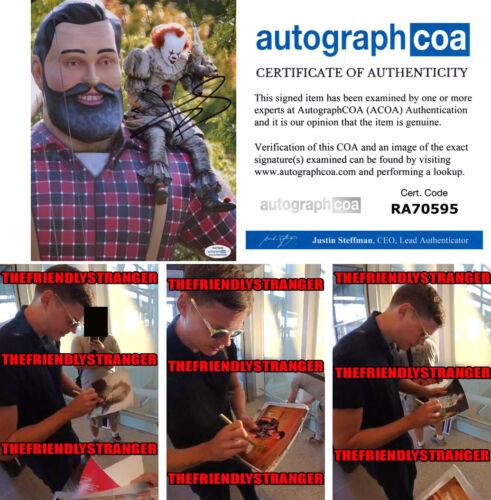 "Rare BILL SKARSGARD signed ""IT CHAPTER 2"" 8X10 PHOTO i PROOF Pennywise ACOA COA"