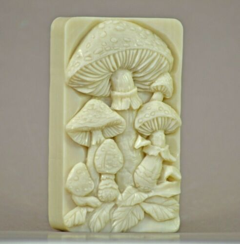 MUSHROOM SILICONE MOULD SOAP RESIN PLASTER CLAY WAX MOLD  5,5OZ