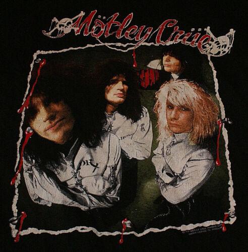 Motley Crue Vtg Vintage Dr Feelgood 1989 Large US Tour Shirt Lighty Worn NM Oop