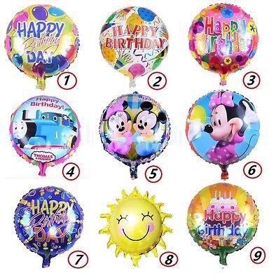 18'' Hot Sell Foil Mylar Balloons Happy Birthday Helium Balloon Party Supplies - 18 Birthday Supplies