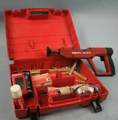 Hilti Dx E72 Nail Gun Dxe72 Set 1039 W Hard Case Powder Actuated Nailer