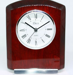High Quality Mahogany Office Desk New Clock 6 Circa Brand Engravable Plate NWT