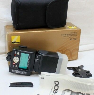 NIKON SPEEDLIGHT SB-800 Professional Shoe Mount Flash w/Case & Box