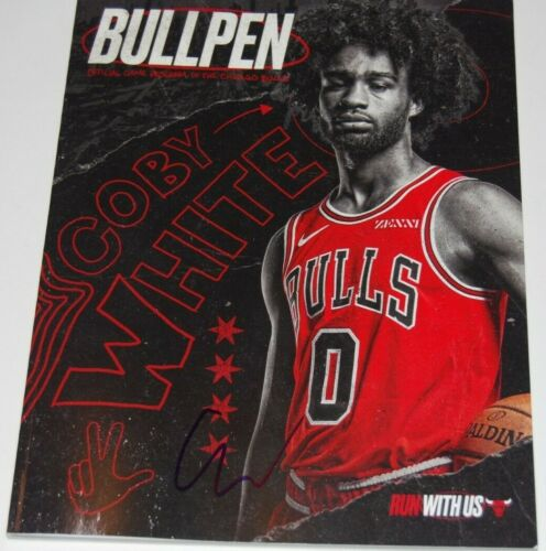 COBY WHITE signed (CHICAGO BULLS) Run With Us Official game program W/COA #0