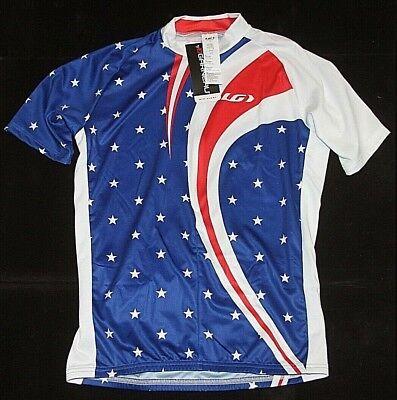 b79dfea000 Louis Garneau Mens Velo Americana Stars Stripes 1/2 Zip Cycling Jersey Sz L  NWT