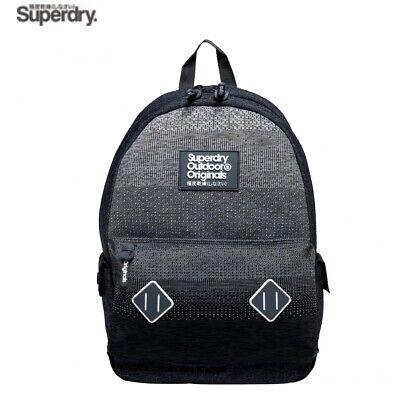 SUPERDRY BAG KNITTER MONTANA BACKPACK DENIM STYLE GREY & WHITE M91010NQ NEW