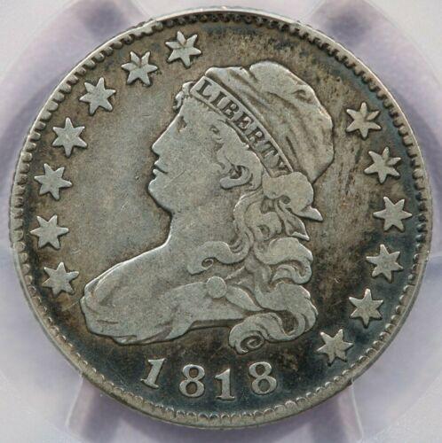 1818 Capped Bust Quarter B-5 R-4+ PCGS F12