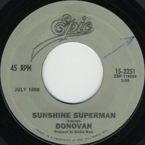 DONOVAN-Sunshine-Superman-b-w-Mellow-Yellow-Reissued-U-S-7inch