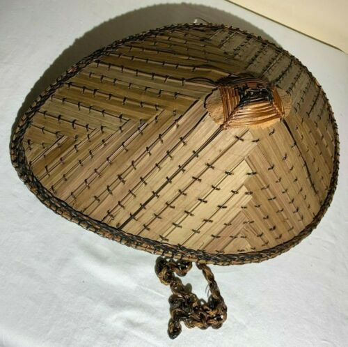 Garden bamboo hat. Unique oval shape. Great hat while in the garden or outdoors.