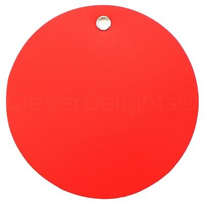 50 Red Plastic Tags - 3 Diameter - Tearproof - Inventory Id Tag Circle Round