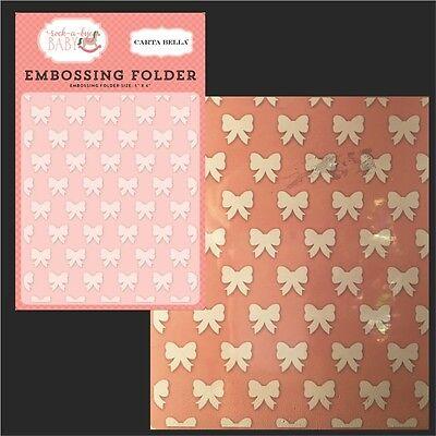 Petite Bows Embossing Folder Carta Bella Folders CBRBG63032 Baby Girl