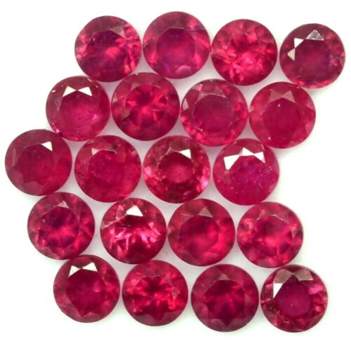 Wholesale Lot 5mm to 9mm Round Facet Natural Pink Ruby Loose Calibrated Gemstone