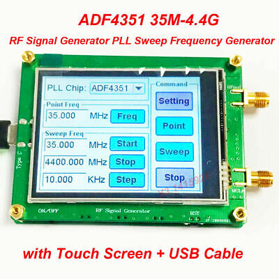 Adf435135m-4.4g Rf Signal Generator Pll Sweep Frequency Generator Touch Screen