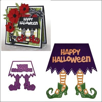Witch's Skirt Metal Die set Cheery Lynn Cutting Dies B853 words Happy Halloween