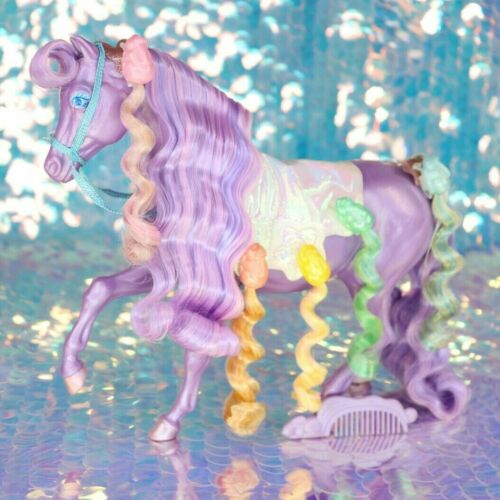 Lady Lovely Locks SILKYMANE Purple Horse 5 PIXIETAILS 80s Vintage LLL BO105