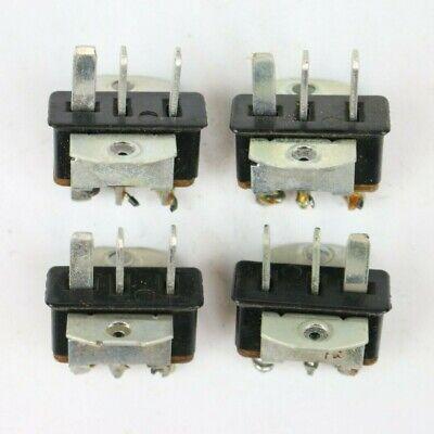 Set Of 4 Vintage Cinch Jones 3-pin Male Connector Socket Bracket Mount Used