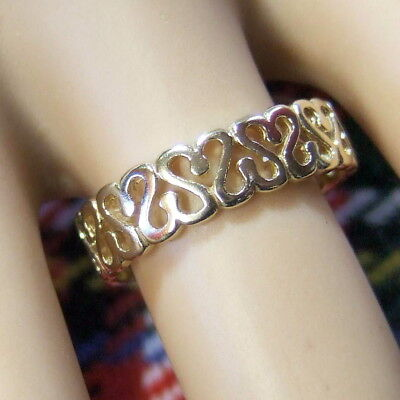 9 ct GOLD second hand fancy ring
