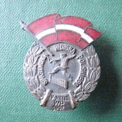 PL Abzeichen - Polen - Sport - Militär - Spartakiade 1957 - emailliert