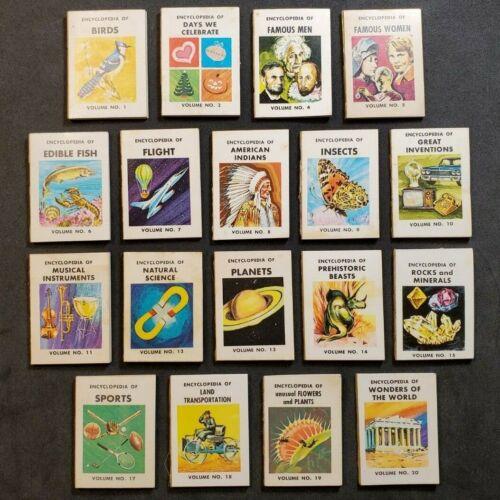Mini Encyclopedias (18 diff.) VINTAGE CRACKER JACK PRIZES Z-1336