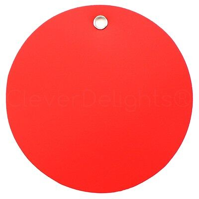 100 Red Plastic Tags - 3 Diameter - Tearproof - Inventory Id Tag Circle Round