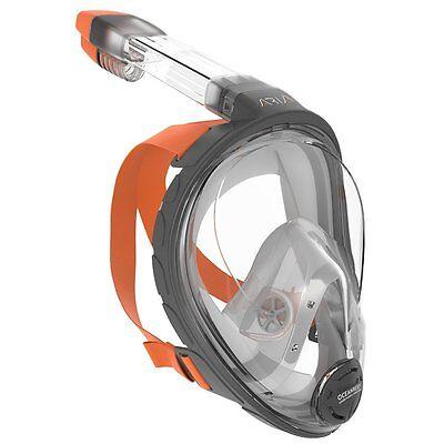 Ocean Reef Diving -  Ocean Reef Aria Grey Snorkeling Full Face Mask Scuba Diving Anti-Fog Snorkel
