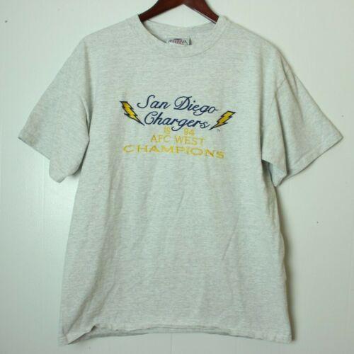 6b33f718d antigua sport men s medium 1994 san diego chargers champions gray t-shirt