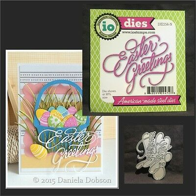 EASTER GREETINGS words metal die - Impression Obsession dies - DIE256-N phrases