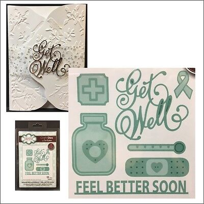 Feel Better Soon metal die set Creative Expressions cutting Dies Get Well