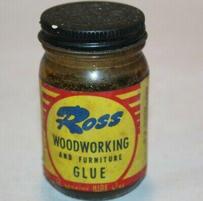 Ross Woodworking and Furniture Glue Detroit Michigan Vintage Display Glass Jar