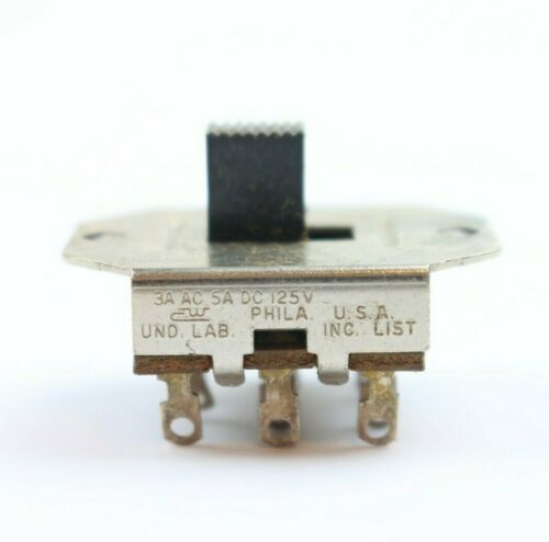 (1) NOS Vintage CW Slide Switch 2-Position 3A AC 5A DC @ 125V USA 222 Available
