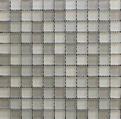 """1""""x 1"""" Beige Multi Color Glass Mosaic Tile Matte Frosted Finish Backsplash Spa"""