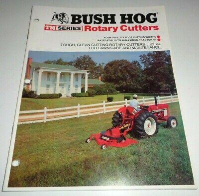 Bush Hog Tm-4 Tm-5 Tm-6 Rotary Mower Cutter Shredder Sales Brochure Literature